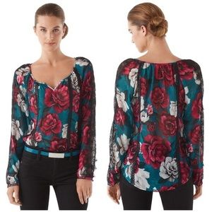 White House Black Market Floral Lace Blouse